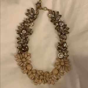 Lovely neutral stone and diamond necklace